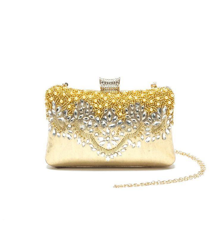 FashionSupreme - Geantă tip plic în auriu Debra - Accesorii - Genţi - Mangotti - luxul poate fi practic. Haine şi accesorii de marcă. Haine de designer.