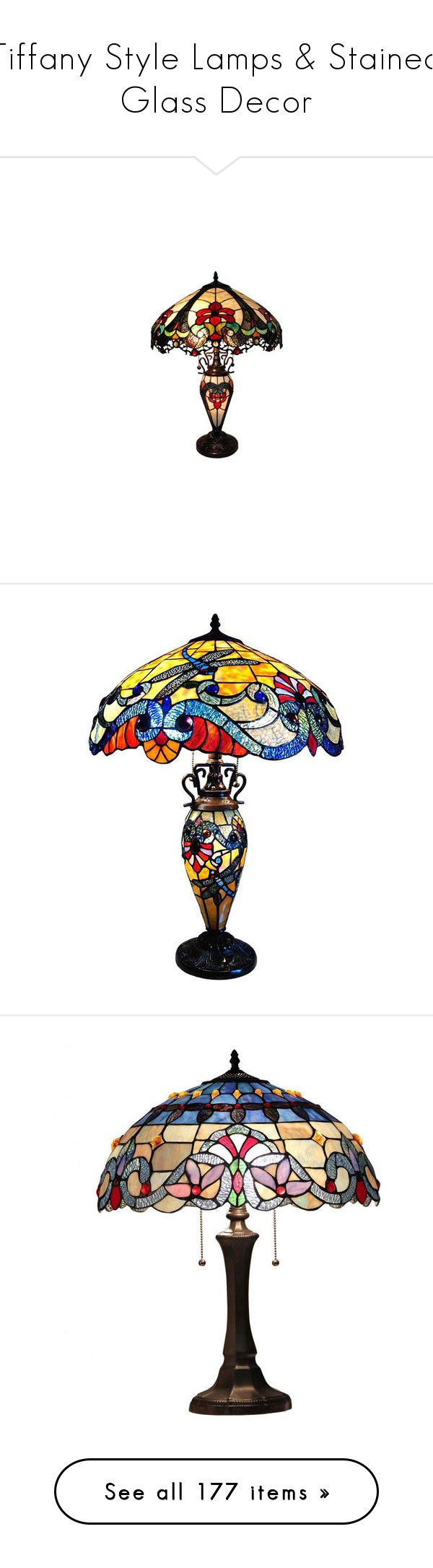Dale tiffany floor lamps foter -  Tiffany Style Lamps Stained Glass Decor By Horcal Liked On Polyvore Featuring Home Lighting Table Lamps Crystal Lamps Incandescent Lamp