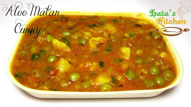 Aloo Matar Curry — Indian Vegetarian Recipe Video in Hindi with English ...