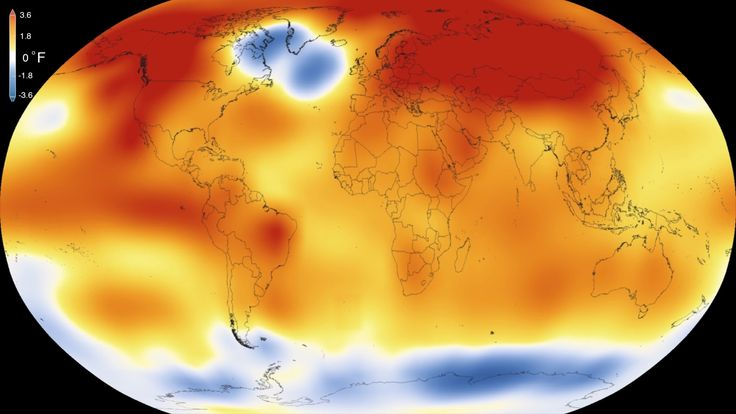 NASA: record-shattering global temperatures | Earth's Long-Term Warming Trend, 1880-2015 Video by NASA.gov on Youtube.com