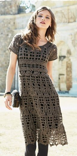 Peruvian Connection - Sophia Crochet Dress