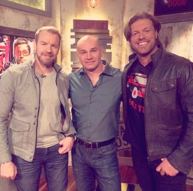 Edge and Christian with Lance Storm April 16th 2016