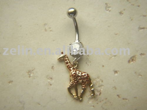 giraffe belly ring <3