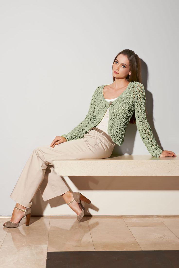 Lana Grossa JACKE IM AJOURMUSTER Cotofine - FILATI CLASSICI No. 7 - Modell 31   FILATI.cc WebShop
