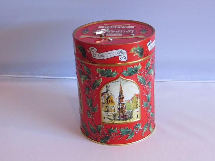 LAMBERTZ AACHEN Gingerbread Musical DECK THE HALLS Holiday Tin - 1999