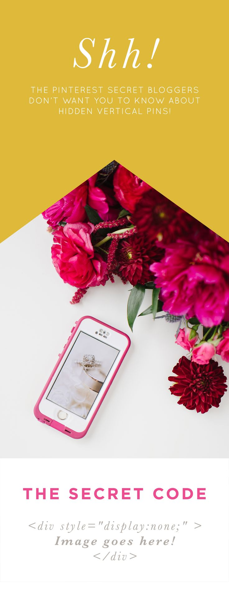 The Pinterest Secret Every Blogger Should Know | Make blog posts more pinnable with vertical images, graphics, + collages that are dominating Pinterest!