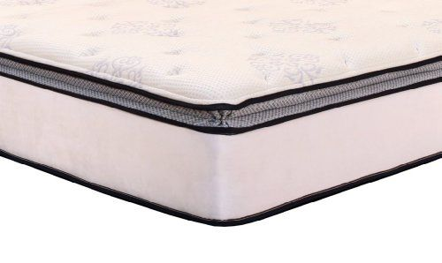 DreamFoam Bedding Ultimate Dreams Pocketed Coil Ultra Plush Pillow Top Mattress with Latex, Twin