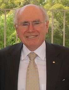 John Howard - 25th Prime Minister of Australia serving from 1996 - 2007 he was Australia's 2nd longest Prime Minister