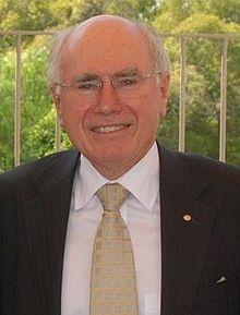 John Howard - 25th Prime Minister of Australia serving from 1996 - 2007 he was Australia's 2nd longest Prime Minister