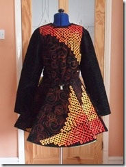 The Irish dance dress I made for the City and Guilds diploma - front.
