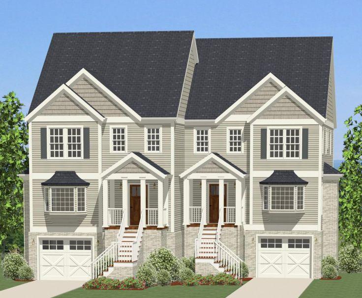 Best 25 duplex house plans ideas on pinterest duplex for Rear master bedroom house plans