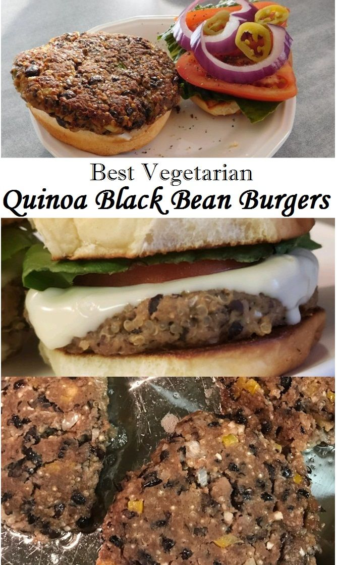 Best Vegetarain Quinoa Black Bean Burgers