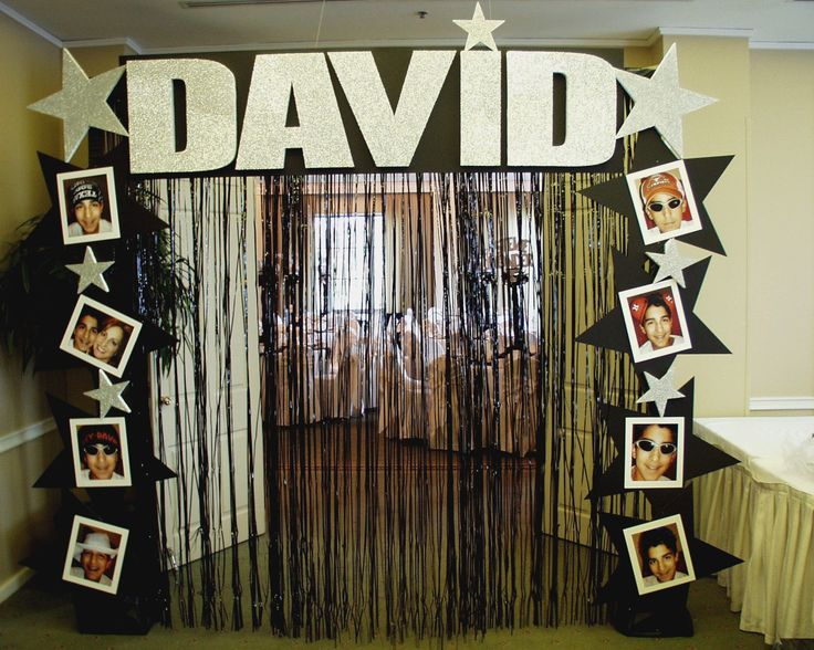 Decorations | Entryway idea... love this! Have it say Kappa on tip with group photos and stars along the sides. Hollywood theme