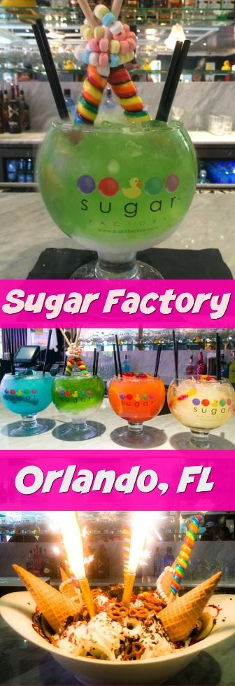 The Sugar Factory in Orlando has specialty cocktails that are world famous! The…