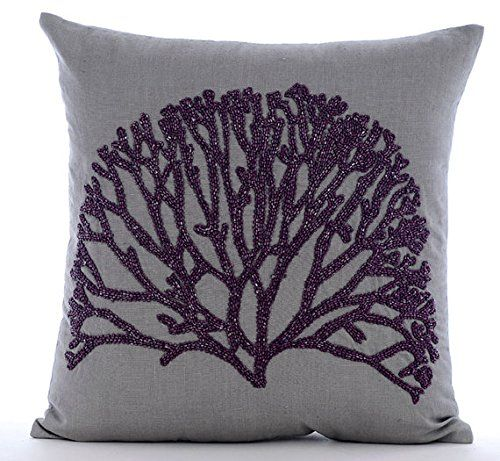 Designer Grey Throw Pillows Cover for Couch, Beaded Viole... https://www.amazon.com/dp/B016H8TPJK/ref=cm_sw_r_pi_dp_x_ZMHaybT8XAT8C