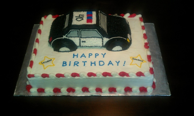 Police Car Cake Put A Po Po Car On Top Troy S 28th