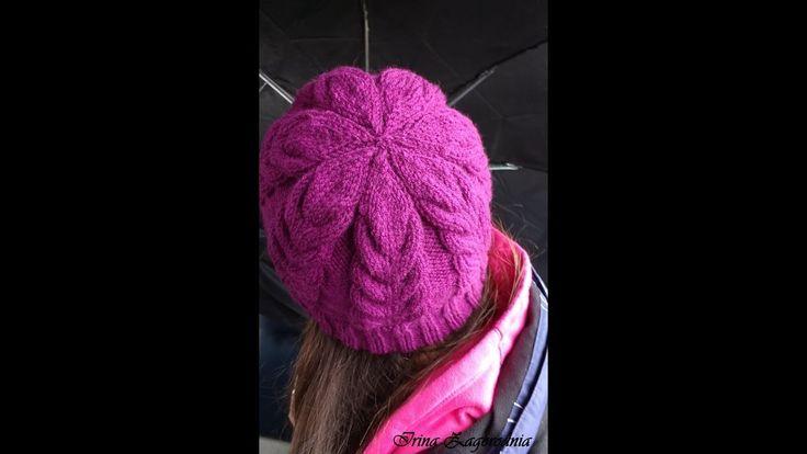 Шапка спицами-красивым узором.Подробный мастер класс по вязанию шапки с ...
