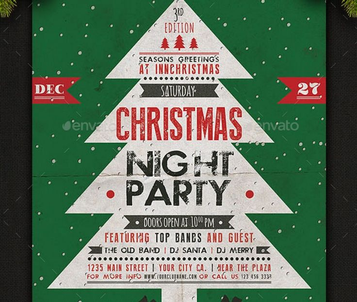 20 Best 15 Christmas Flyer Template Psd Vector Eps And Indesign