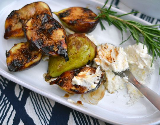 Dessert Recipe: Grilled Figs with Honeyed Mascarpone Recipes from The ...