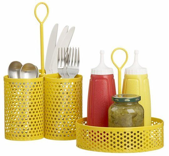 Bar grill style condiment and utensil caddies crafts - Grill utensil storage ideas ...