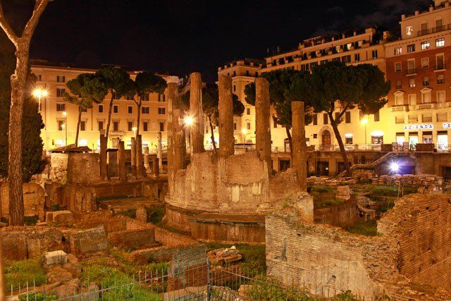 Largo di Torre Argentina in Italy (where most of the Roman cats make their home) - free things to see in Rome