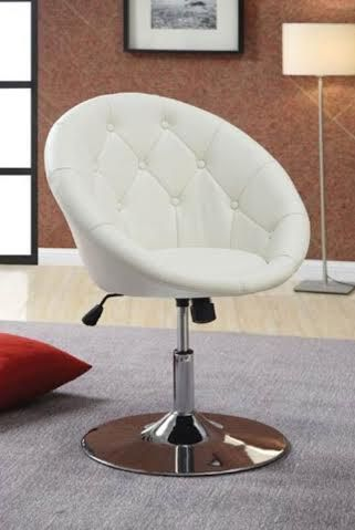 Elegant Gorgeous White Glamorous Vanity Chair