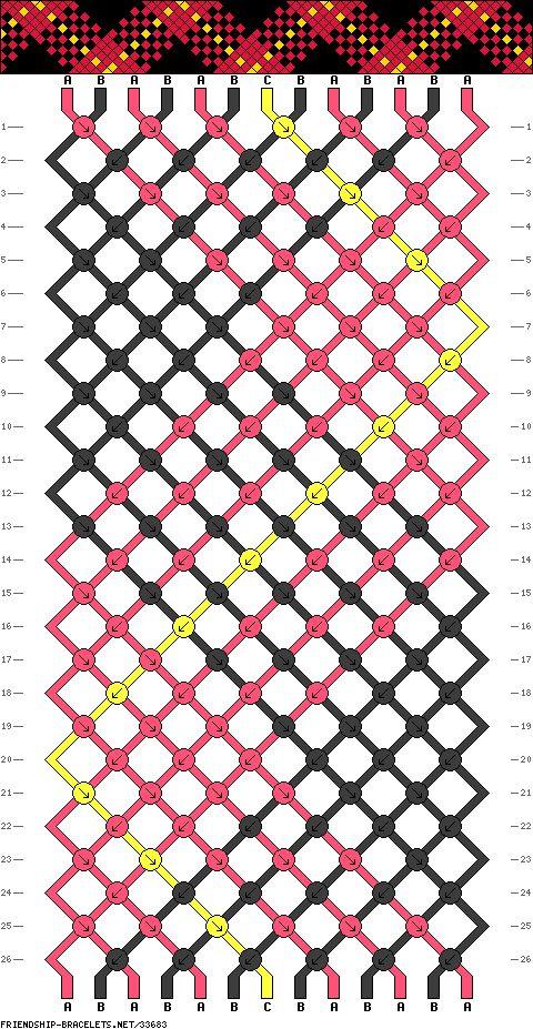 Friendship Bracelet Pattern - Plaid