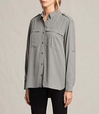 Women's Millie Shirt (Khaki) - product_image_alt_text_3