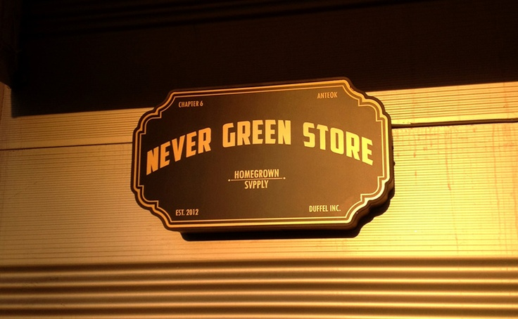 Only four local designer brands sold in 'Never Green Store', located in Itaewon.  'Chapter 6′ label by Anteok, a famous men's designer in Korea, 'MNW', and 'Blankof' are the only brands represented here.  Address: 3F, 532 Itaewon 2- dong, Yongsan-gu, Seoul.  Tel : +82-2-797-4268.  Open Hours: 2 pm – 8 pm (Only Thursday to Sunday) .  Brand :  MNW http://withmnw.com/  Spectator http://www.anteok.com/  HOME GROWN SVPPLY & Co.  BLANKOF http://www.blankof.com/