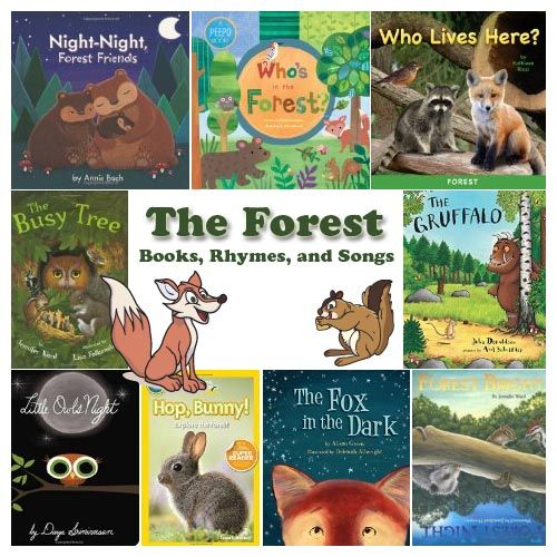 Preschool forest animals books, rhymes, and songs