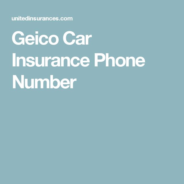 Geico Car Insurance Phone Number Automobile Car Carinsurance