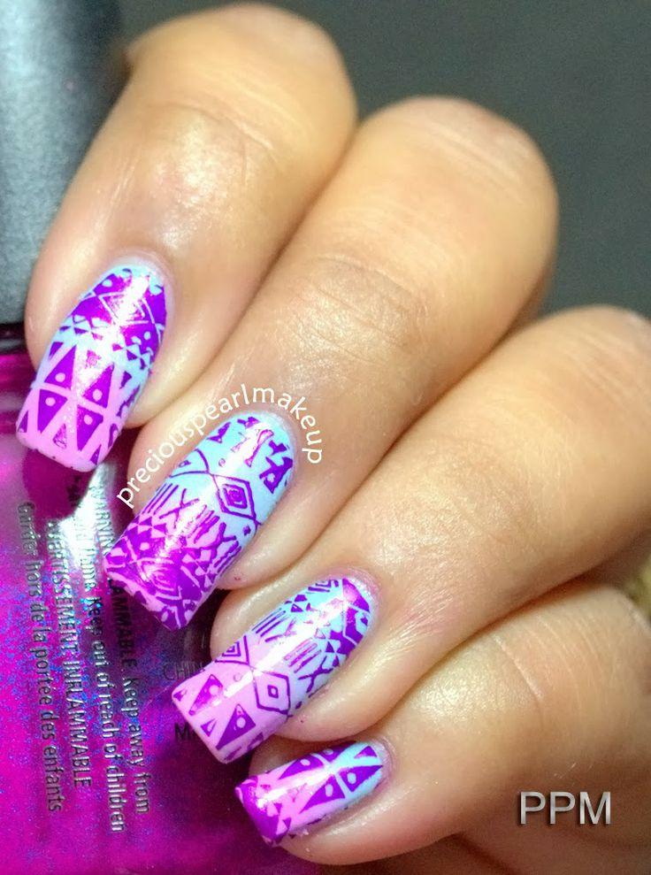 preciouspearlmakeup: Aztec Nail Art