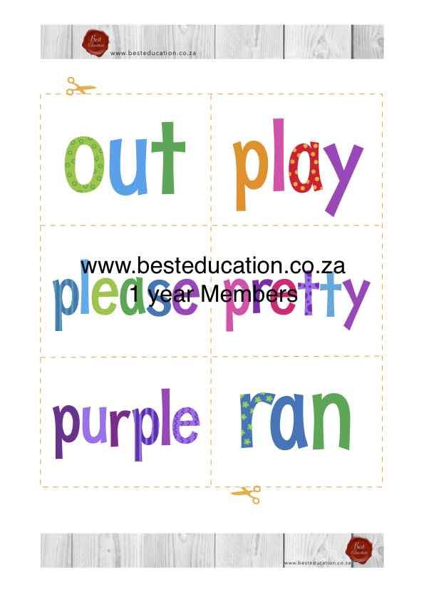 102 Sight Words https://besteducation.co.za/shop