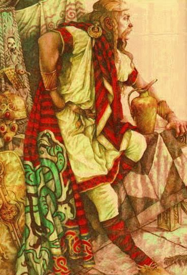 In Irish mythology, Dian Cécht, also known as Cainte, Canta, was the God of healing to the Irish people. He was the healer for the Tuatha Dé Danann and the father of Cian, Cu, and Cethé. His other children were Miach, Airmed, Étan the poetess, and Ochtriullach.