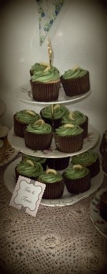 Hendrick's Gin cupcakes I made myself that were featured on the Hendricks website in 2011 #unusualtimes bestginever