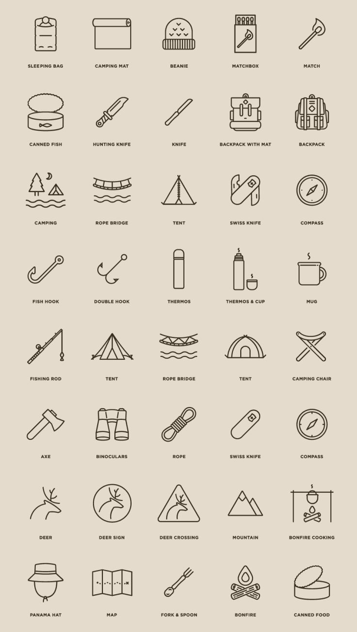 40 Free Camping Icons | Pixlov