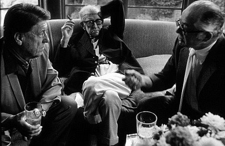 DIRECTORS GROUP PARTY held at home of George Cukor - Pictured (l. to r.) - George Stevens, John Ford & Billy Wilder