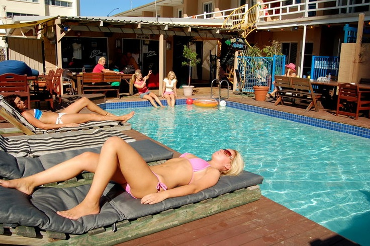 Spend your day by the pool at Surf n Sun Beachside Backpackers, Surfers Paradise, Australia