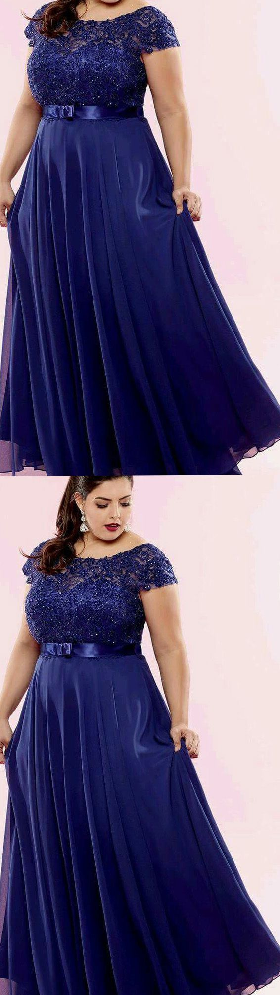 Plus Size Prom Dresses, Blue Prom Dresses, Long Prom Dresses, Royal Blue Prom Dresses, Prom Dresses Plus Size, Prom Dresses Blue, Long Blue Prom Dresses, Prom Dresses Royal Blue, Chiffon Prom Dresses, Plus Size Dresses, Royal Blue dresses, Plus Size Prom Dresses Royal Blue Floor-length Chiffon Appliques Prom Dress