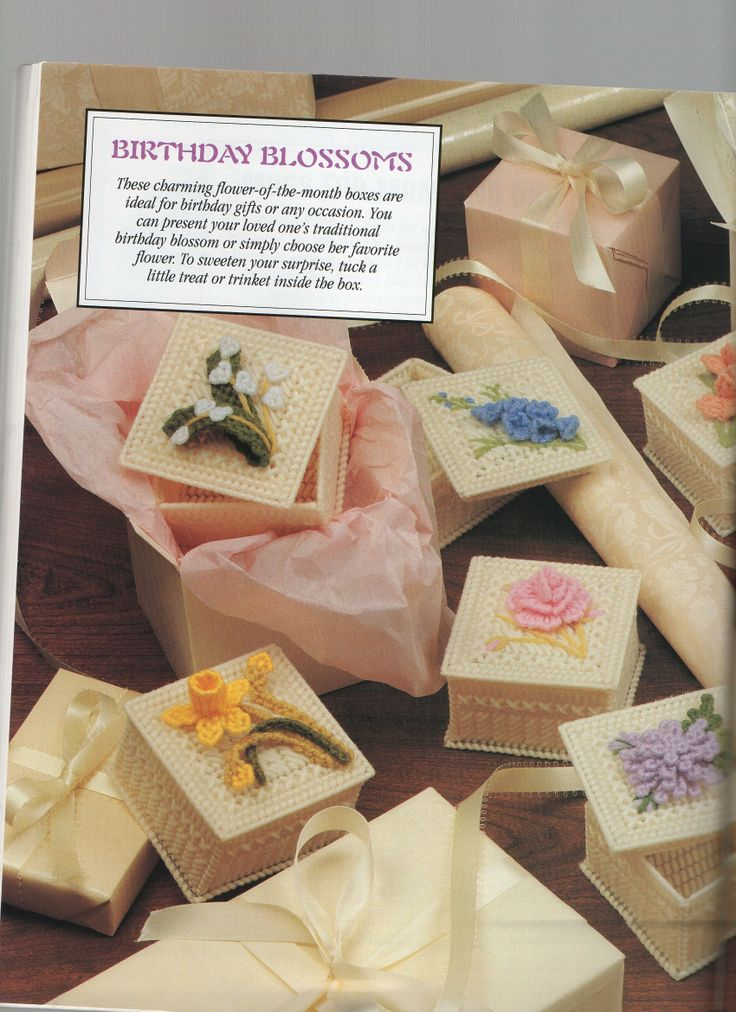 FLOWER OF THE MONTH BOXES by DICK MARTIN 1/6 (BIRTHDAY BLOSSOMS)