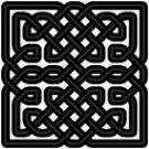 celticsquareknots1スクェア・ノット   ケルト組紐模様が全体的に四角をなしているデザイン。  古来より、ケルト戦士の戦闘用の盾にもよく描かれた形です。  堅固さや安定性を象徴している形と言われています。  魔除けやお守りとしての力があり、自分に向けられたネガティブな力から  プロテクトしてくれると言われている事から、シールド・ノット(盾組紐模様)とも呼ばれます。