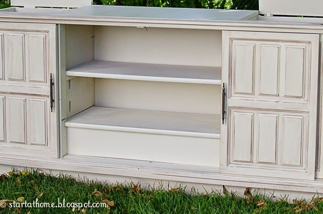 Start at Home: Old TV Console Turned Buffet!                                                                                                                                                                                 More