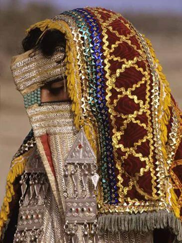 Africa    Rashaida Bride with veil.  The Rashaida are an Arab tribe populating Eritrea and north-east Sudan