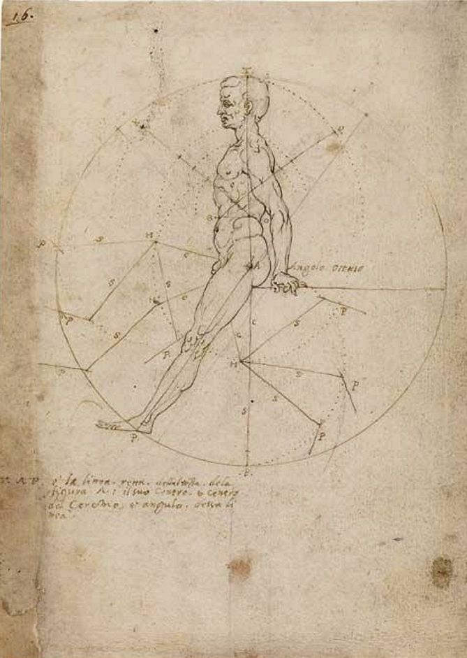 Leonardo da Vinci and the Codex Huygens - fol. 16 - The Morgan Library & Museum Online Exhibitions - Perspective