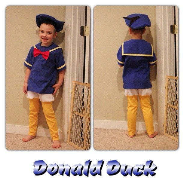 Disfraz casero y económico del pato Donald