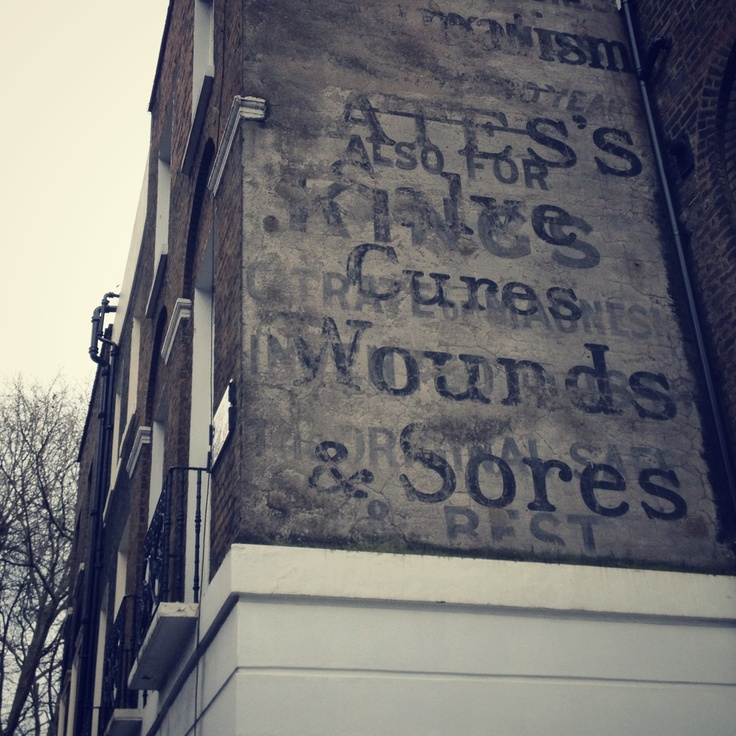 Signage. Cures. Wounds. Sores.
