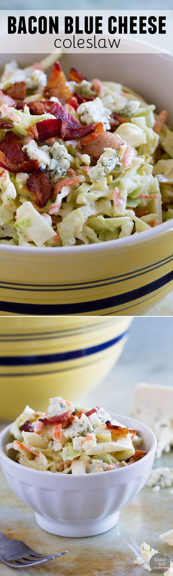 Bacon Blue Cheese Coleslaw proves that!! Crunchy cabbage, salty bacon ...