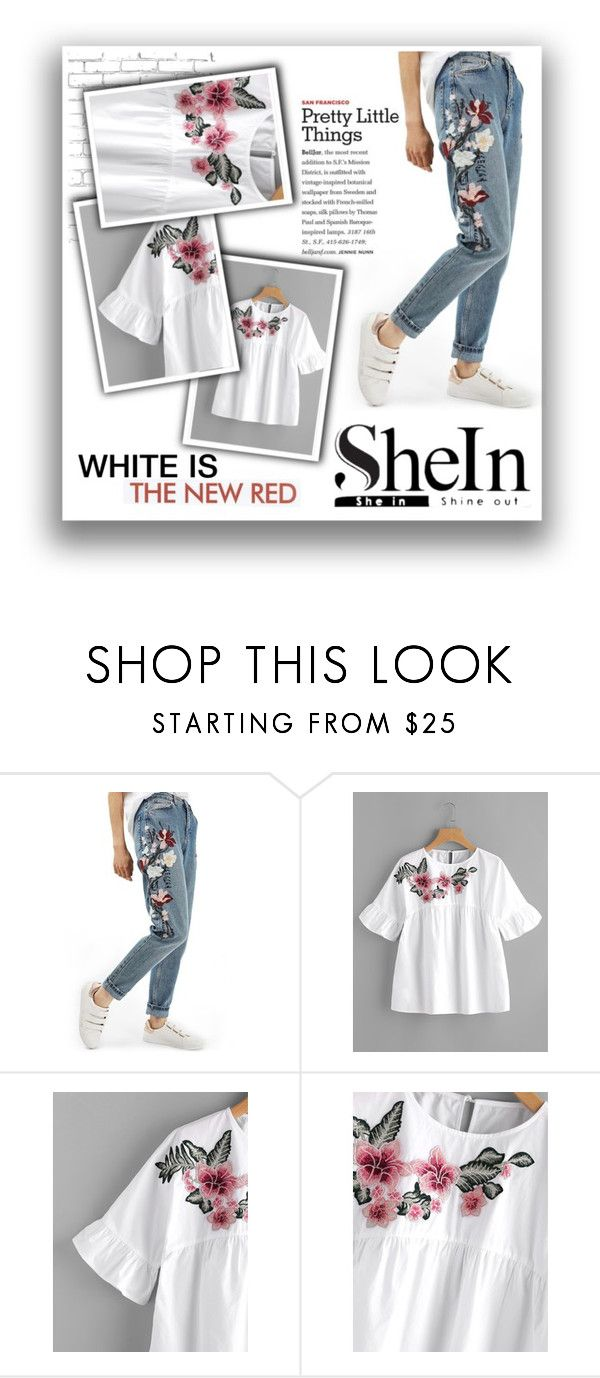"""""""Win $30 COUPON! - SheIn"""" by atikazahra on Polyvore featuring Topshop, WALL and ELLA"""