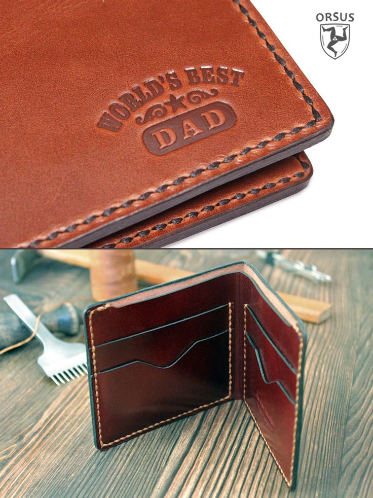 Handmade leather wallet - awesome father gift! Dad gift, Father's day gift, dad gift from daughter, gift for father, gift for dad, leather wallet, men's wallet, Personalized wallet, daddy gift.