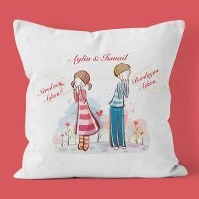 Sevgiliye Hediye - Resimli Yastık